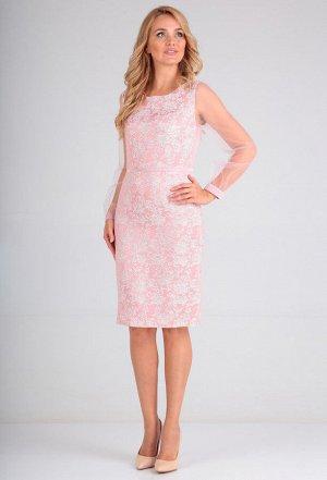 Платье Lady Line 484 розовый