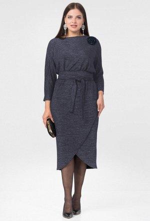 Платье Amelia Lux 3447 темно-синий