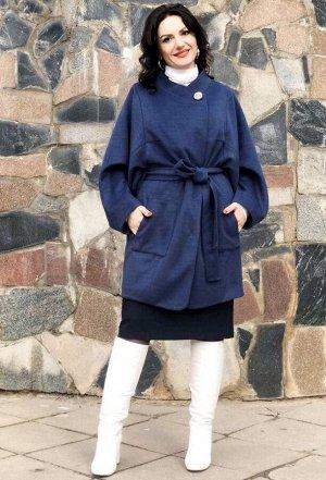 Пальто Amelia Lux 3525 синий