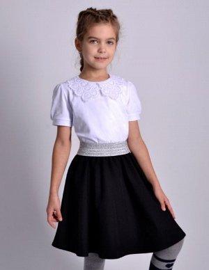Школьная юбка Суфле черная