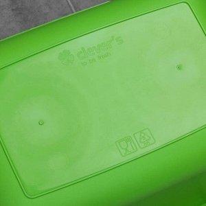 Таз прямоугольный Clever's, 25 л, цвет МИКС