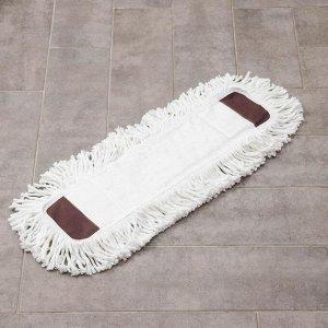 Насадка для плоской швабры, 57?15 см,микрофибра, длинный ворс, цвет белый