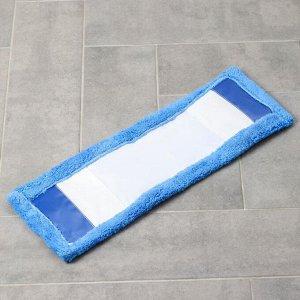 Насадка для плоской швабры Доляна, 55?18,5 см, микрофибра, цвет синий