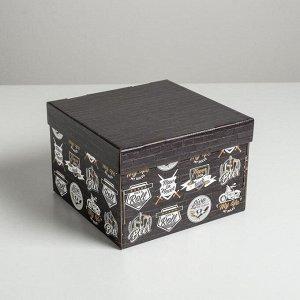 Коробка складная «Брутальность», 22 х 22 х 15 см
