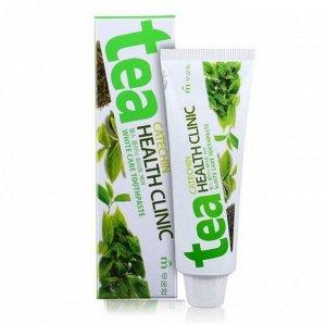Зубная паста «Mukunghwa» / «Tea Catechin Health Clinic» отбеливающая с экстрактом зеленого чая (коробка) 100 г / 40