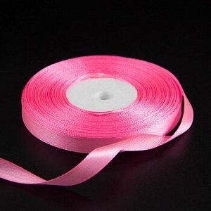 Лента атласная Розовый неон (05) 10 мм, 30 метров