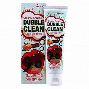 Зубная паста «Mukunghwa»/ «Dubble Clean» кремовая с очищающими пузырьками и экстрактом красного грейпфрута (коробка) 110 г / 40