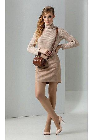 Водолазка, пальто, юбка Diva 1268 беж