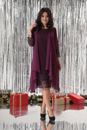 Кардиган, платье Solomeya Lux 654 бордо