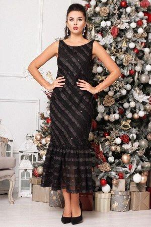 Платье, жакет Мода Юрс 2624 черный