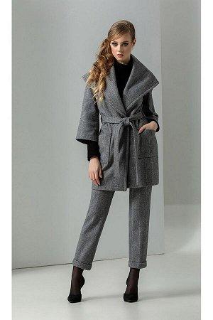 Брюки, водолазка, пальто Diva 1271-1 серый