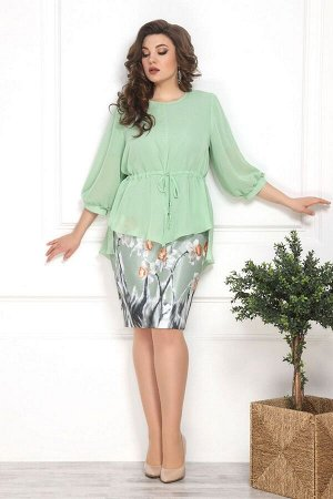 Накидка, платье Solomeya Lux 786 зелень