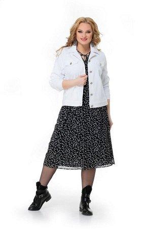 Жакет, платье Мишель стиль 950 черно-белый