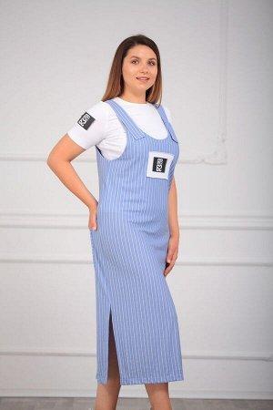 Блуза, сарафан LUXTEX 1319 светло-голубой