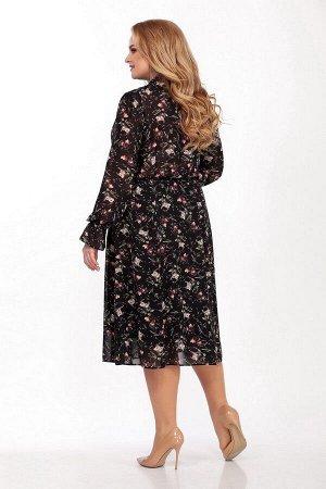Жакет, платье LaKona 1331 пудра-черный