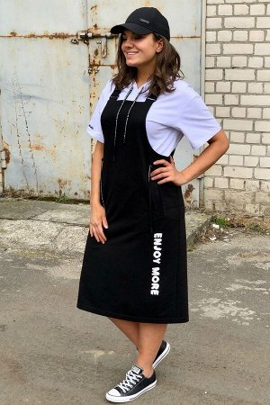 Майка, сарафан Runella 1427 черно-белый