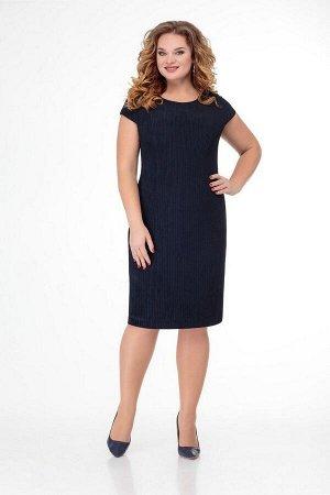 Жакет, платье Slaviaelit 474 синий-мультиколор