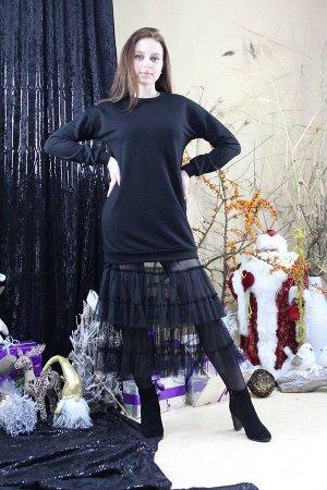 Платье Стильная леди М-281 черный