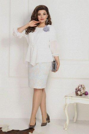 Накидка, платье Solomeya Lux 786 белый