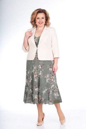 Жакет, платье Slaviaelit 166-2 фисташка