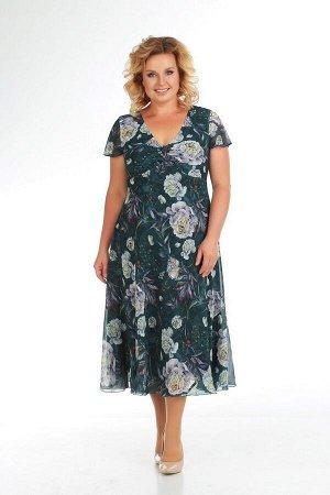 Жакет, платье Slaviaelit 166-2 темно-зеленый