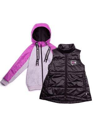 101000/3 (серый) Куртка для девочки