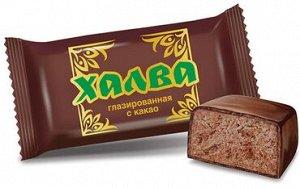 Халва глазированная с какао (коробка 2,5 кг)