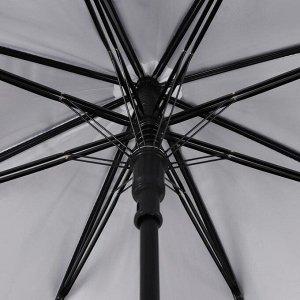 Зонт - трость полуавтоматический, 8 спиц, R = 52 см, цвет МИКС
