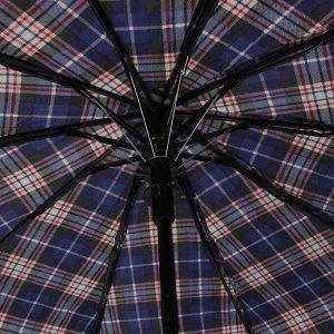 Зонт полуавтоматический «Клетка», 3 сложения, 10 спиц, R = 48 см, цвет МИКС