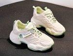 Женские космические кроссовки на широкой подошве, цвет зеленый