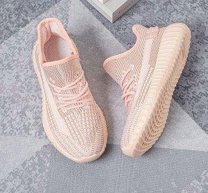 Текстильные женские кроссовки, цвет розовый