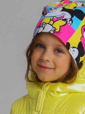 шапочка с Микки-Маусом 50-52-54 размер двойная хлопок