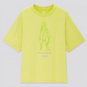 Женская футболка с принтом, желтый