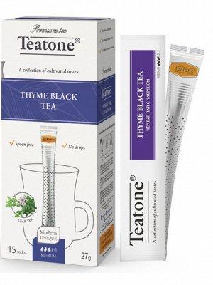 Черный чай с Чебрецом TEATONE 15стик*1.8г