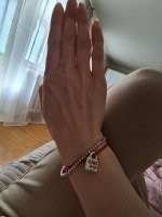 Красный браслет с замком UNOde50 MKTPRO0009