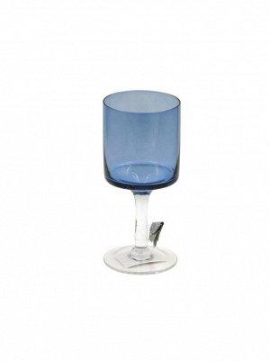 Ваза стекло Бокал Н20 см цвет синий