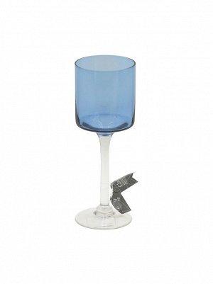 Ваза стекло Бокал Н25 см цвет синий