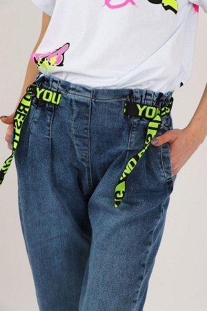 Джинсы ДЕВ Страна: Турция Производитель: A-YUGI Материал: 95% хлопок, 5% эластан Пол: ДЕВ Описание товара: Стильные джинсы для девочки