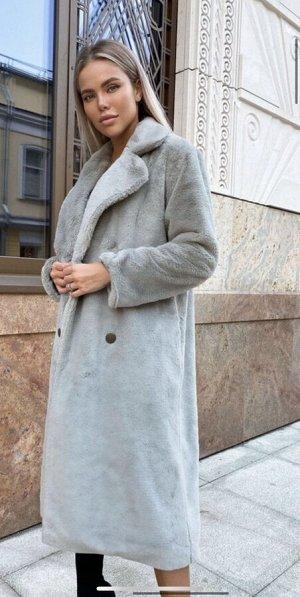 Двубортная куртка из экомеха