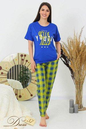 Пижама «Нола» брюки синяя