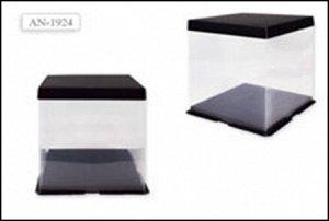 Коробка для мишки из роз. Картонное дно, крышка и пластиковая основа. Высота 26,5 см., ширина 24см