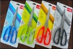 Ножницы 18 см. пластиковые ручки, европодвес
