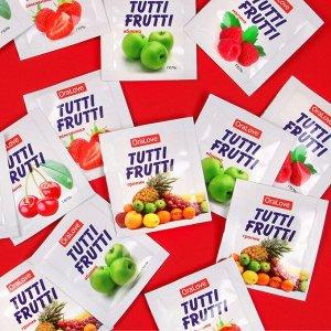 Съедобная гель-смазка tutti-frutti для орального секса , 4гр