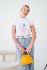 Блузка Лариса №18.Цвет:девушка/юбка