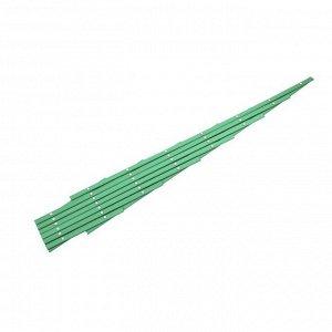 Декоративное ограждение, 150 ? 100 см, пластик, зелёная