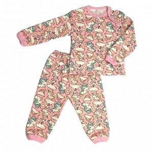 Пижама теплая 610/35 (единороги на розовом)
