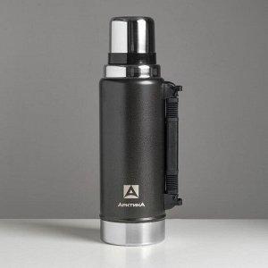 """Термос вакуумный """"Арктика"""" 1250 мл, 106-1250P, чёрный, сохраняет тепло 40 ч"""