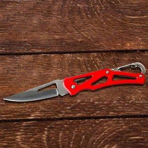 """Нож с карабином """"Будь непобедим"""", 8 х 12 см"""