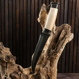 Нож охотничий Н69, ст. У10А-7ХНМ, рукоять текстолит, береста