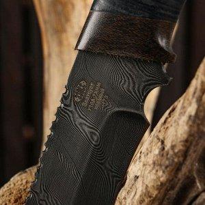 Нож охотничий Н73, ст.У10А-7ХНМ, рукоять текстолит, кожа